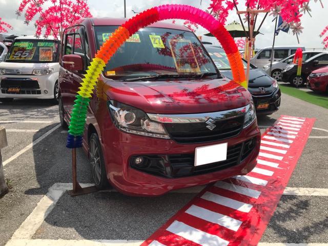沖縄の中古車 スズキ ソリオバンディット 車両価格 79万円 リ済込 2015(平成27)年 6.9万km レッド
