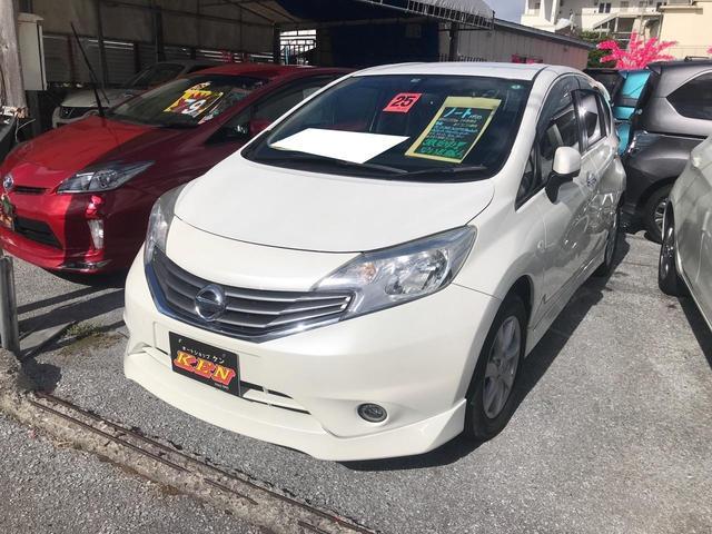 沖縄の中古車 日産 ノート 車両価格 55万円 リ済込 2013(平成25)年 4.3万km パール
