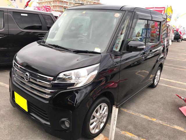 沖縄の中古車 日産 デイズルークス 車両価格 103万円 リ済込 平成26年 8.5万km ブラックM
