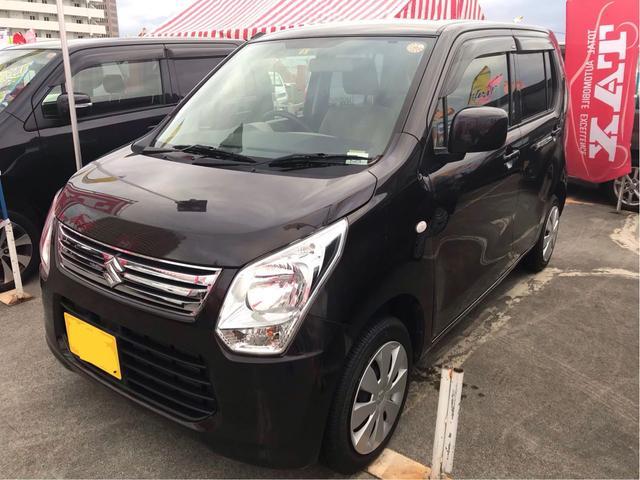 沖縄の中古車 スズキ ワゴンR 車両価格 83万円 リ済込 平成26年 7.0万km DブラウンM