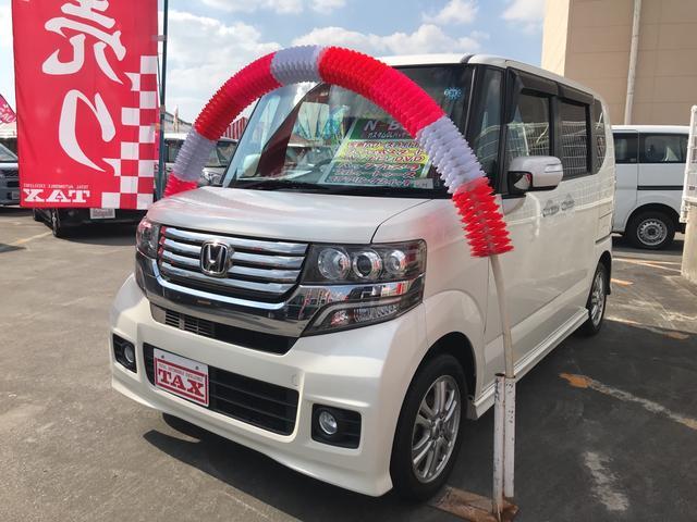 沖縄の中古車 ホンダ N-BOXカスタム 車両価格 108万円 リ済込 平成24年 8.3万km パールホワイト