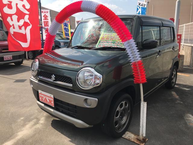 沖縄の中古車 スズキ ハスラー 車両価格 94万円 リ済込 平成26年 7.4万km Dグリーン