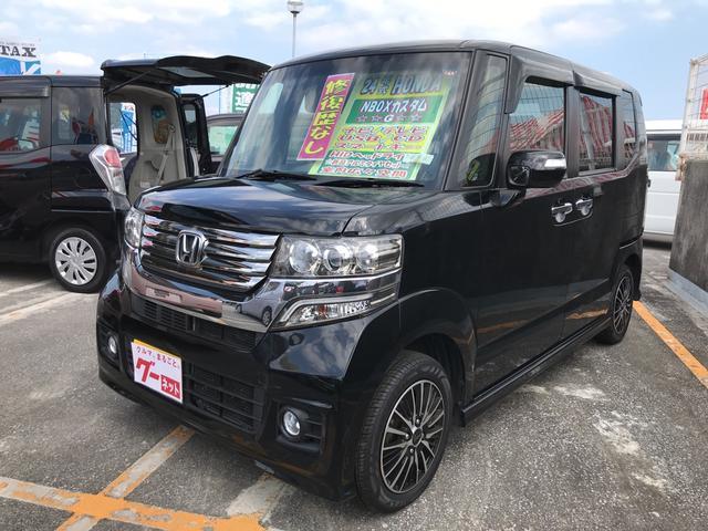 沖縄の中古車 ホンダ N-BOXカスタム 車両価格 108万円 リ済込 平成24年 7.7万km ブラック