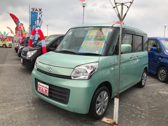 沖縄の中古車 スズキ スペーシア 車両価格 94万円 リ済込 2014(平成26)年 7.9万km Lグリーン