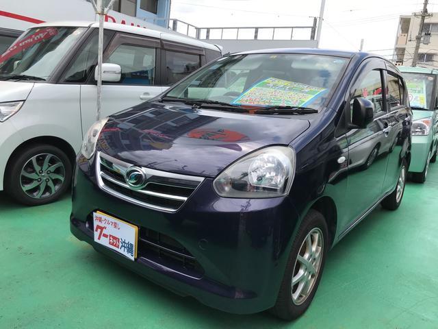 沖縄の中古車 ダイハツ ミライース 車両価格 63万円 リ済込 2013(平成25)年 6.3万km ダークブルー
