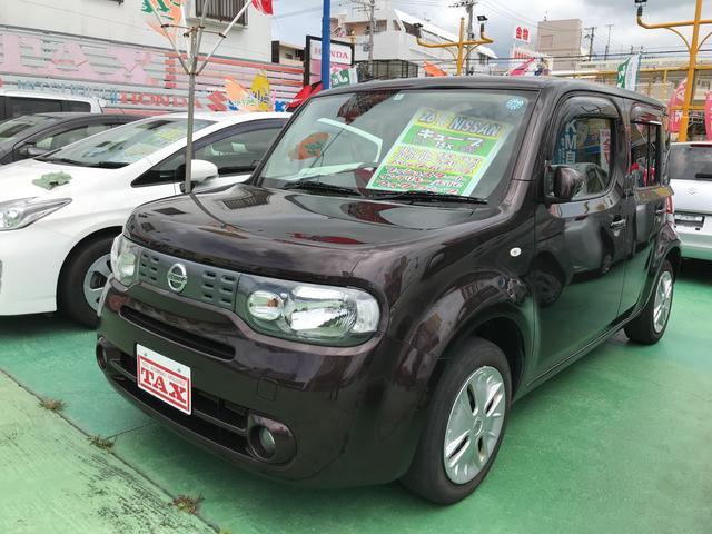 沖縄の中古車 日産 キューブ 車両価格 68万円 リ済込 2014(平成26)年 6.2万km ブラウン