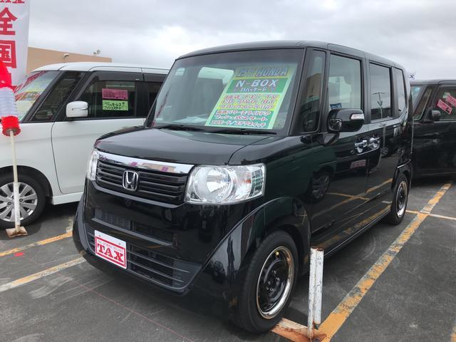 沖縄の中古車 ホンダ N-BOX 車両価格 103万円 リ済込 2013(平成25)年 7.1万km ブラック