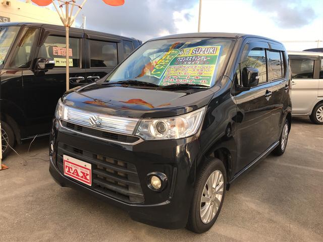 沖縄県の中古車ならワゴンRスティングレー X ナビ レーダーブレーキサポート 2年保証