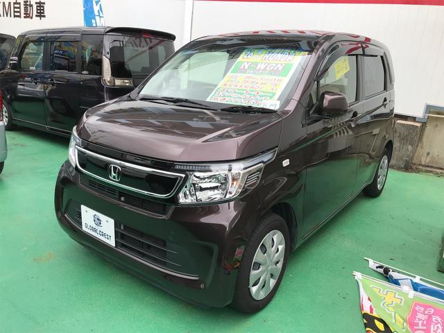 沖縄の中古車 ホンダ N-WGN 車両価格 88万円 リ済込 2014(平成26)年 6.7万km ブラウン