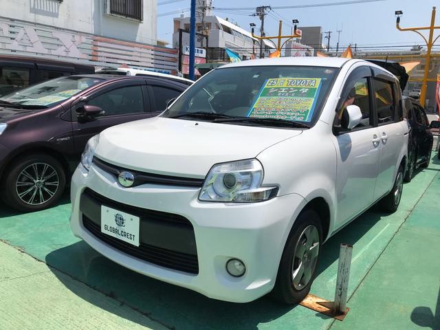 沖縄の中古車 トヨタ シエンタ 車両価格 92万円 リ済込 2013(平成25)年 5.0万km パールホワイト