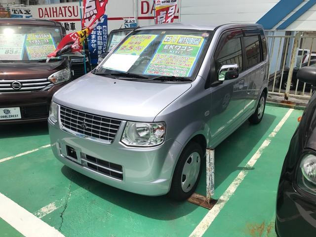 沖縄の中古車 三菱 eKワゴン 車両価格 48万円 リ済込 2013(平成25)年 6.9万km シルバー
