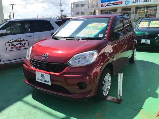 沖縄の中古車 トヨタ パッソ 車両価格 72万円 リ済込 2017(平成29)年 6.6万km ワイン