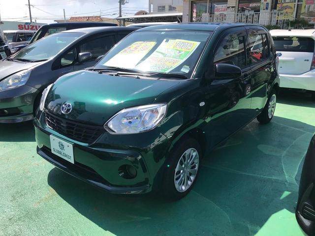 沖縄の中古車 トヨタ パッソ 車両価格 82万円 リ済込 2017(平成29)年 2.1万km グリーン