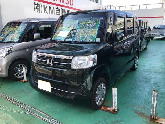 沖縄の中古車 ホンダ N-BOX 車両価格 110万円 リ済込 2016(平成28)年 6.8万km ブラック