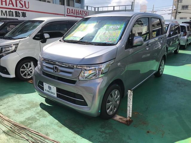 沖縄の中古車 ホンダ N-WGN 車両価格 84万円 リ済込 2017(平成29)年 7.0万km シルバー