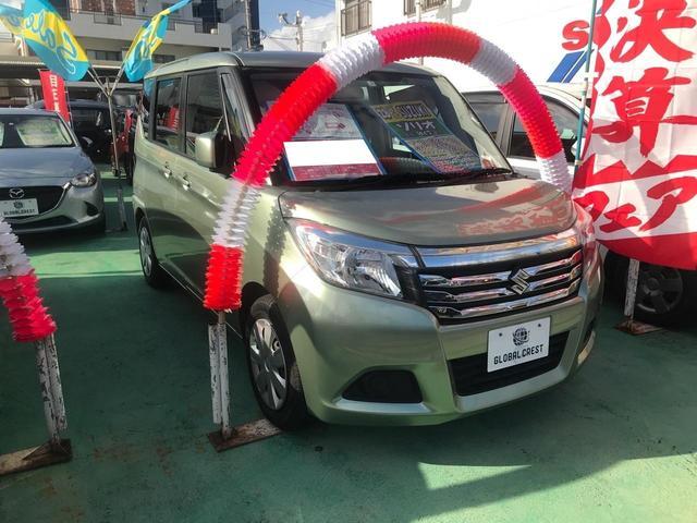 沖縄県宜野湾市の中古車ならソリオ G プッシュスタート 片側パワースライドドア ナビ DVD AUX Bluetooth接続 ETC スマートキー