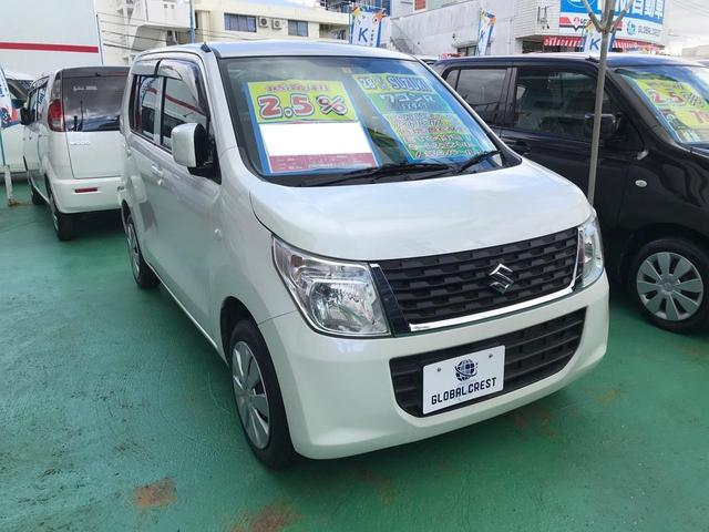 沖縄の中古車 スズキ ワゴンR 車両価格 84万円 リ済込 2016(平成28)年 6.2万km パールホワイト