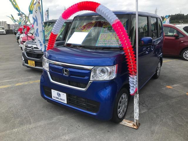 沖縄の中古車 ホンダ N-BOX 車両価格 110万円 リ済込 2017(平成29)年 6.1万km ブルー