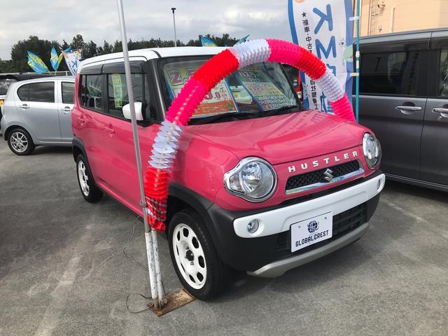 沖縄の中古車 スズキ ハスラー 車両価格 94万円 リ済込 2015(平成27)年 6.7万km ピンク