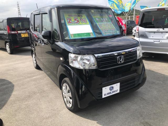 沖縄の中古車 ホンダ N-BOX 車両価格 94万円 リ済込 2014(平成26)年 7.4万km ブラック