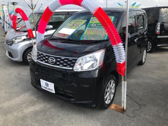 沖縄の中古車 ダイハツ ムーヴ 車両価格 100万円 リ済込 2016(平成28)年 6.2万km ブラック