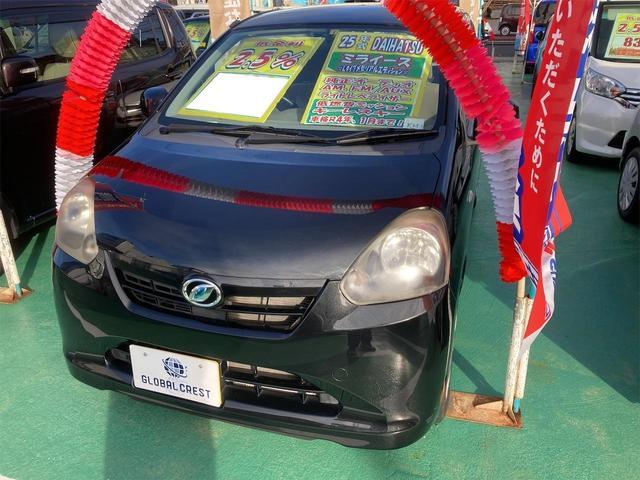 沖縄の中古車 ダイハツ ミライース 車両価格 44万円 リ済込 2013(平成25)年 7.4万km ブラック
