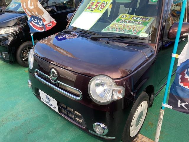 沖縄の中古車 ダイハツ ミラココア 車両価格 74万円 リ済込 2014(平成26)年 7.7万km ブラウン