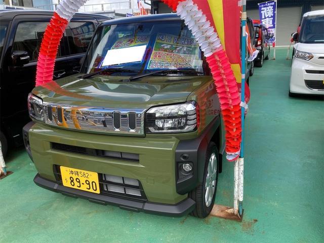 沖縄の中古車 ダイハツ タフト 車両価格 164万円 リ済込 2021(令和3)年 20km グリーングレー