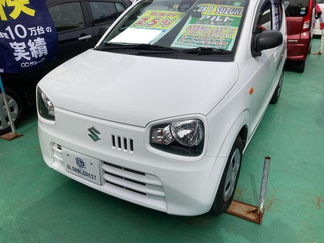 沖縄の中古車 スズキ アルト 車両価格 54万円 リ済込 2016(平成28)年 6.1万km ホワイト