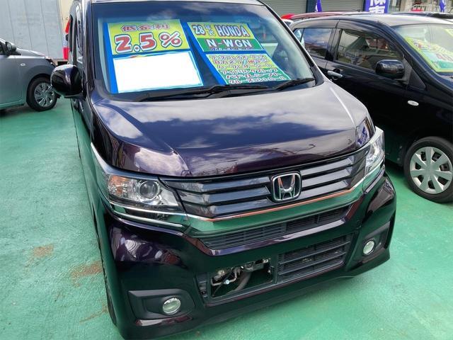沖縄の中古車 ホンダ N-WGNカスタム 車両価格 100万円 リ済込 2016(平成28)年 6.1万km パープル