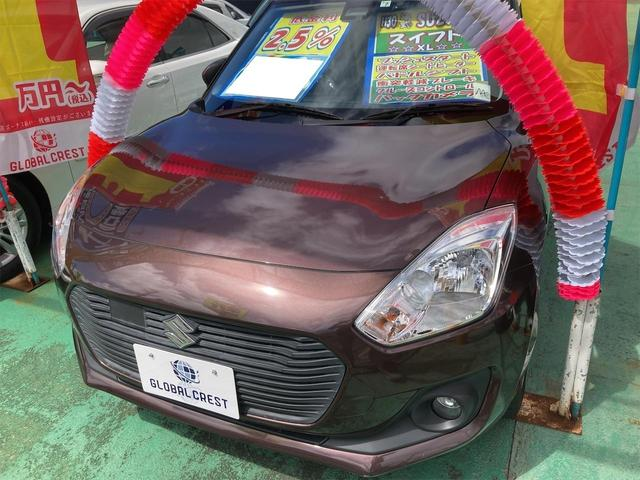 沖縄の中古車 スズキ スイフト 車両価格 95万円 リ済込 2018(平成30)年 6.3万km ブラウン