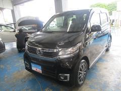 沖縄の中古車 ホンダ N−WGNカスタム 車両価格 113万円 リ済込 平成28年 0.9万K ブラック