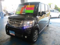 沖縄の中古車 ホンダ N BOXカスタム 車両価格 119万円 リ済込 平成28年 5.0万K ブラック