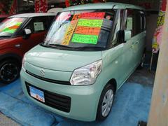 沖縄の中古車 スズキ スペーシア 車両価格 75万円 リ済込 平成25年 3.3万K グリーン