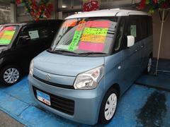 沖縄の中古車 スズキ スペーシア 車両価格 65万円 リ済込 平成25年 7.0万K ブルー/ホワイトツートン