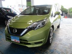 沖縄の中古車 日産 ノート 車両価格 129万円 リ済込 平成29年 0.8万K グリーン