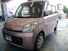 沖縄の中古車 スズキ スペーシア 車両価格 72万円 リ済込 平成26年 2.5万K ピンク