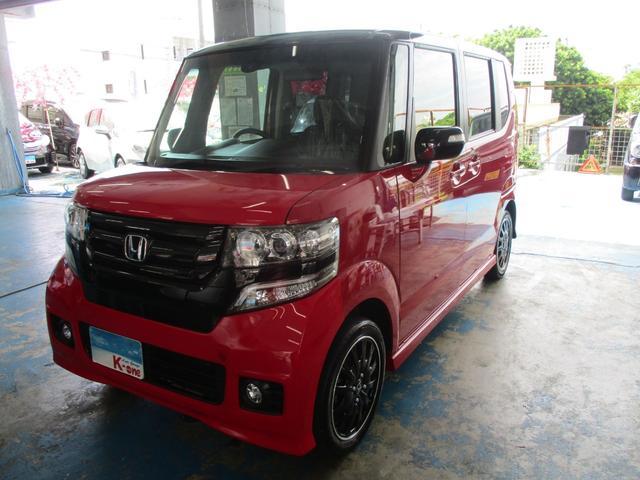 沖縄の中古車 ホンダ N-BOXカスタム 車両価格 115万円 リ済込 平成27年 5.8万km レッド/ブラックツートン