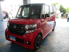 沖縄の中古車 ホンダ N BOXカスタム 車両価格 119万円 リ済込 平成27年 5.8万K レッド/ブラックツートン