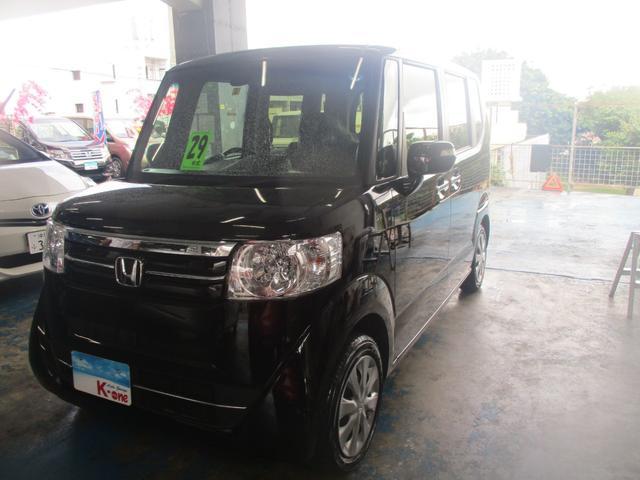 沖縄の中古車 ホンダ N BOX 車両価格 105万円 リ済込 平成29年 3.3万km ブラック