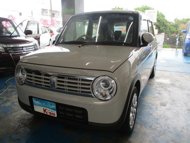 沖縄の中古車 スズキ アルトラパン 車両価格 83万円 リ済込 平成29年 6.0万km ベージュ