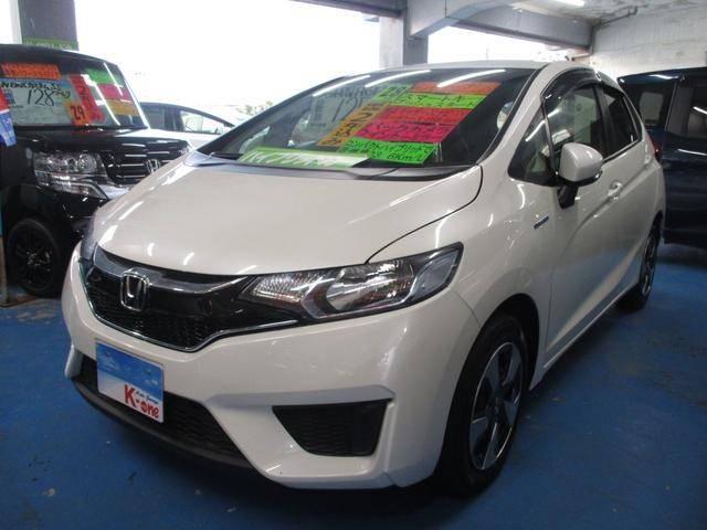 沖縄の中古車 ホンダ フィットハイブリッド 車両価格 115万円 リ済込 平成28年 4.7万km パールホワイト