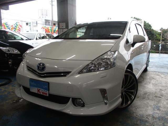 沖縄の中古車 トヨタ プリウスアルファ 車両価格 129万円 リ済込 平成26年 6.8万km パールホワイト