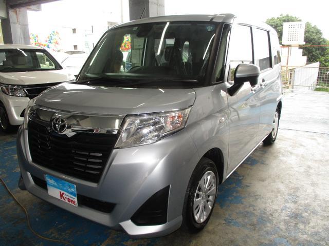 沖縄の中古車 トヨタ ルーミー 車両価格 108万円 リ済込 平成29年 3.8万km シルバー
