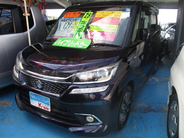 沖縄の中古車 スズキ ソリオバンディット 車両価格 119万円 リ済込 平成28年 3.7万km ダークパープルM