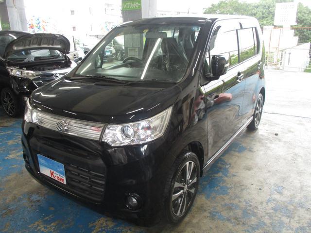 沖縄の中古車 スズキ ワゴンRスティングレー 車両価格 65万円 リ済込 平成25年 6.8万km ブラック