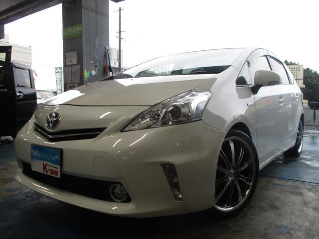 沖縄の中古車 トヨタ プリウスアルファ 車両価格 115万円 リ済込 平成25年 6.4万km パールホワイト