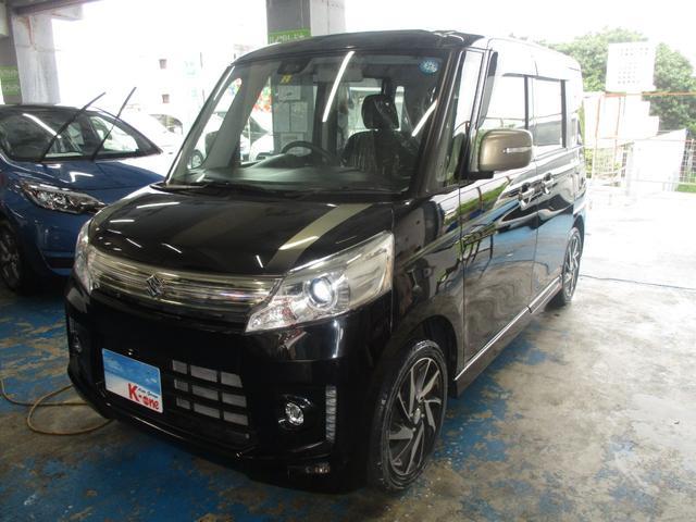 沖縄の中古車 スズキ スペーシアカスタム 車両価格 88万円 リ済込 平成27年 5.0万km ブラック