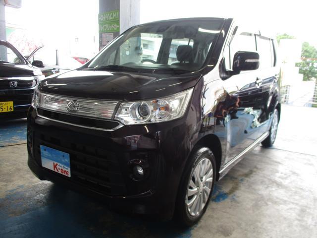 沖縄県の中古車ならワゴンRスティングレー Xレーダーブレーキサポート搭載