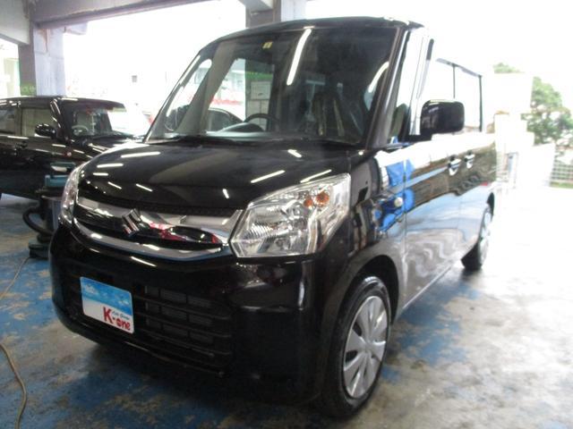 沖縄の中古車 スズキ スペーシア 車両価格 85万円 リ済込 2017(平成29)年 5.7万km ブラック
